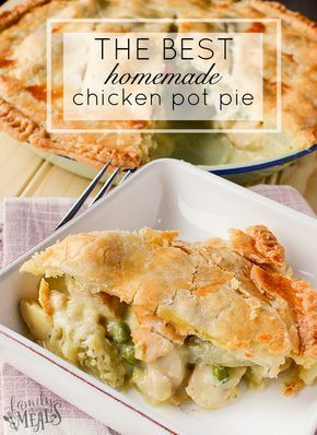 Pop quiz time, everyone: raise your hand if you've ever had chicken pot pie.  OK, good. Now, if the chicken pot pie you had was a little single-serving thing that came out of a box in the freezer, put your hand down again. Because you haven't really had chicken pot pie.  A homemade chicken pot pie is a thing of beauty. It's a savory blend of chicken, veggies, and potatoes, smothered in a rich, creamy gravy…all baked into a crisp, flaky, golden crust.