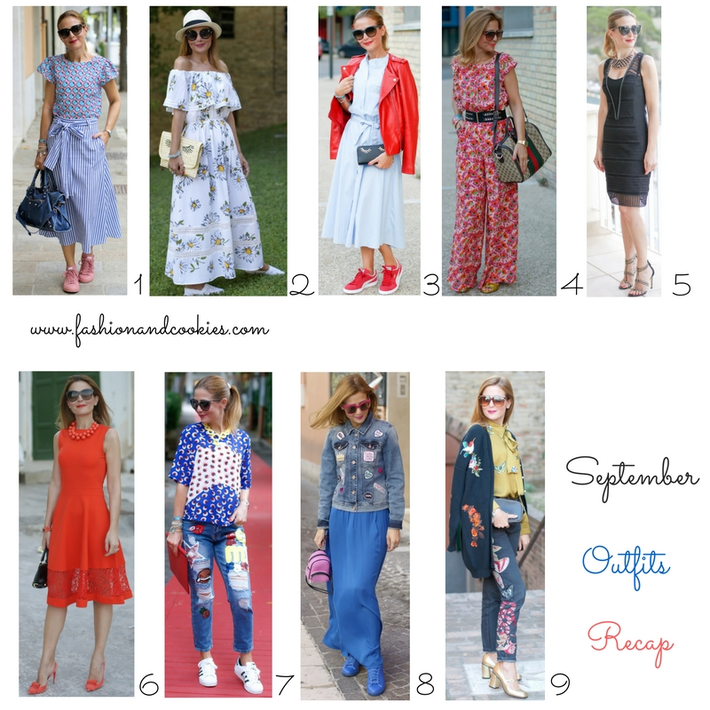 Welcome October, September outfits recap on Fashion and Cookies fashion blog, fashion blogger style