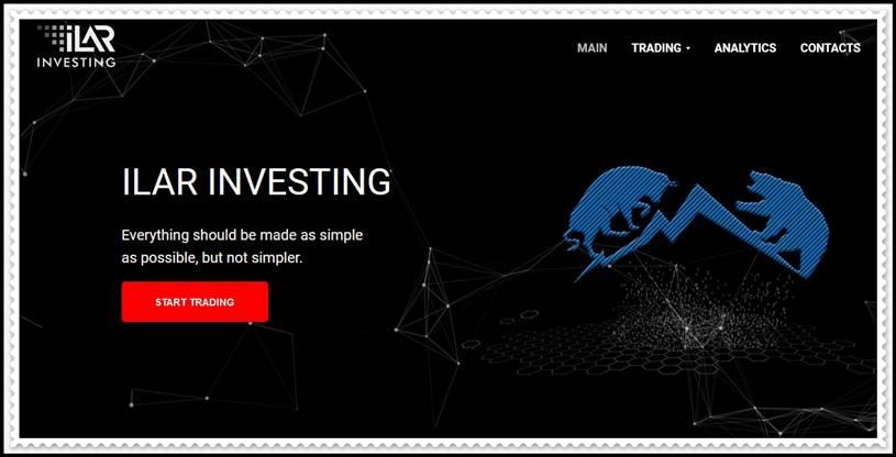 Мошеннический сайт ilarinvesting.com – Отзывы, развод! Компания ILAR Investing мошенники