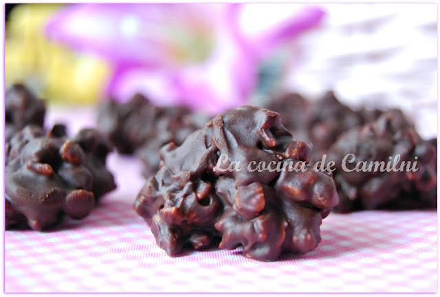 Rocas de chocolate negro y cereales (La cocina de Camilni)