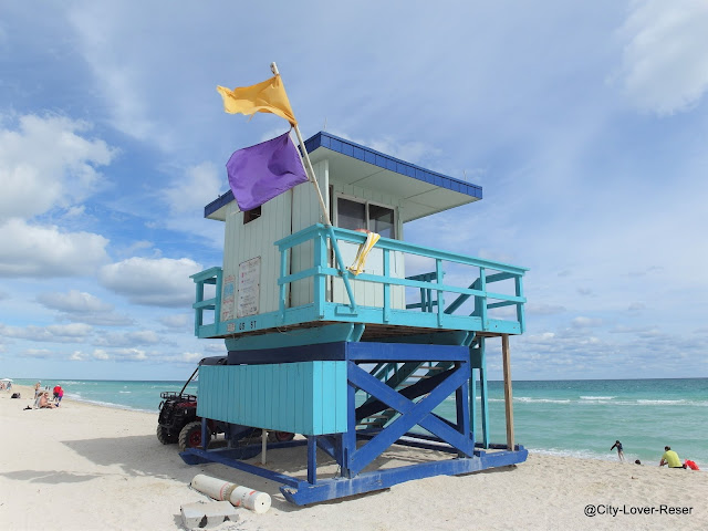Florida- stranden i Miami Beach