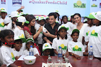 Shriya Saran and Meenakshi Dixit Pos at Quaker Feed A Child Campaign  0038.jpg