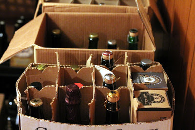 Cases of beer in my basement.