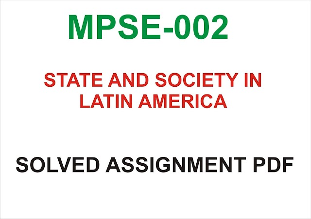 MPSE-002 Solved Assignment PDf