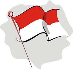 gambar bendera merah putih kartun