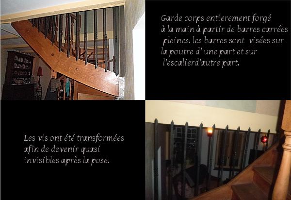 garde corps d' escalier en fer forgé