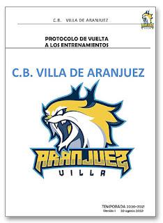 Protocolo anti Covid Baloncesto Aranjuez