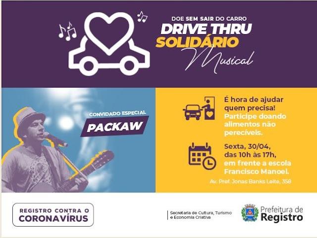 Fundo Social promove Drive Thru Solidário Musical