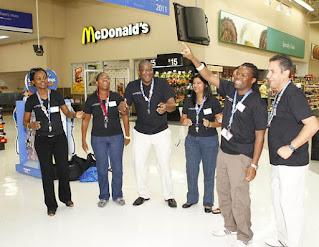 South African Walmart associates.