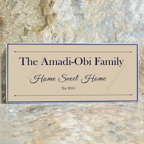 Family Wood Photo Plaque