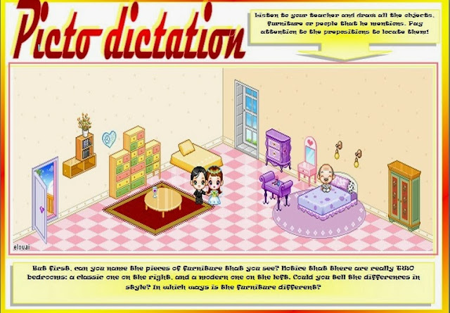 English Stuff ESL: PREPOSITIONS (elementary PICTO DICTATION