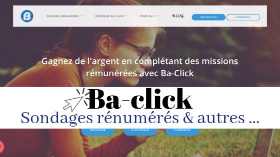 Ba-click, les sondages en ligne rénumérés