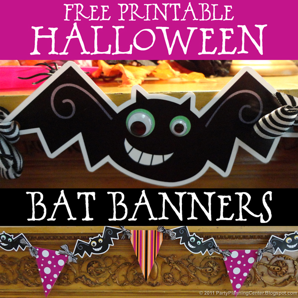 Party Planning Center: Free Printable Cute Halloween Banners