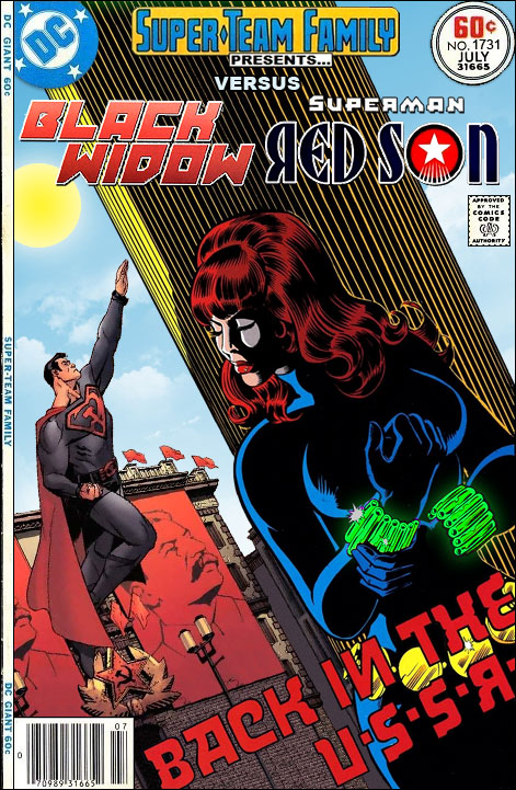 Super Team Family The Lost Issues Black Widow Vs Superman Red Son