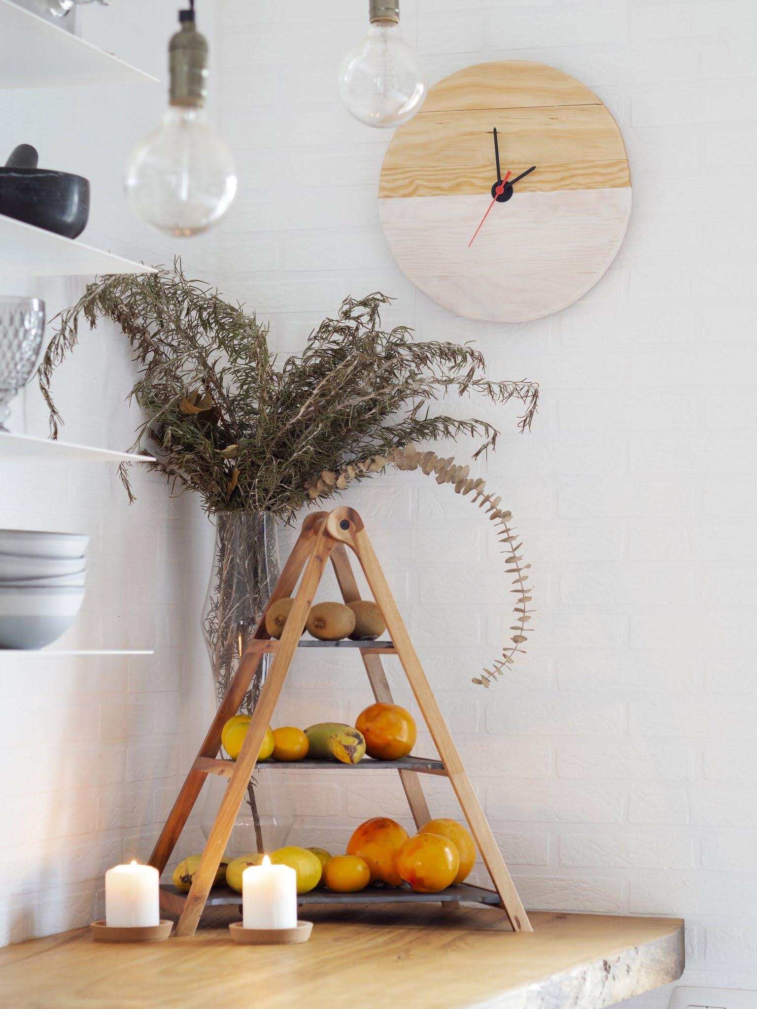 DIY Reloj de madera para nuestra cocina15