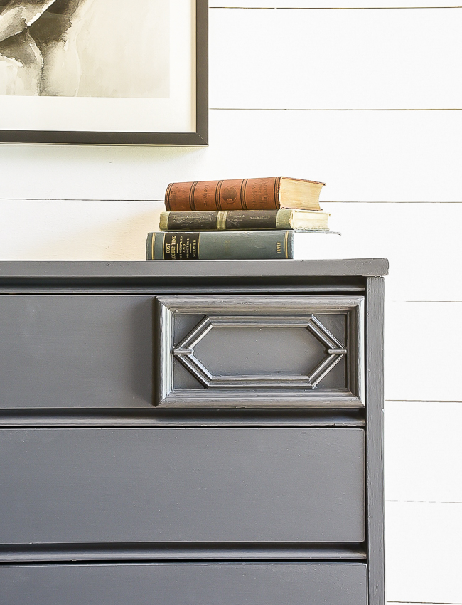 Iron Ore painted MCM dresser