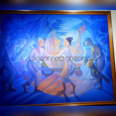 Large Painting - dancing to music