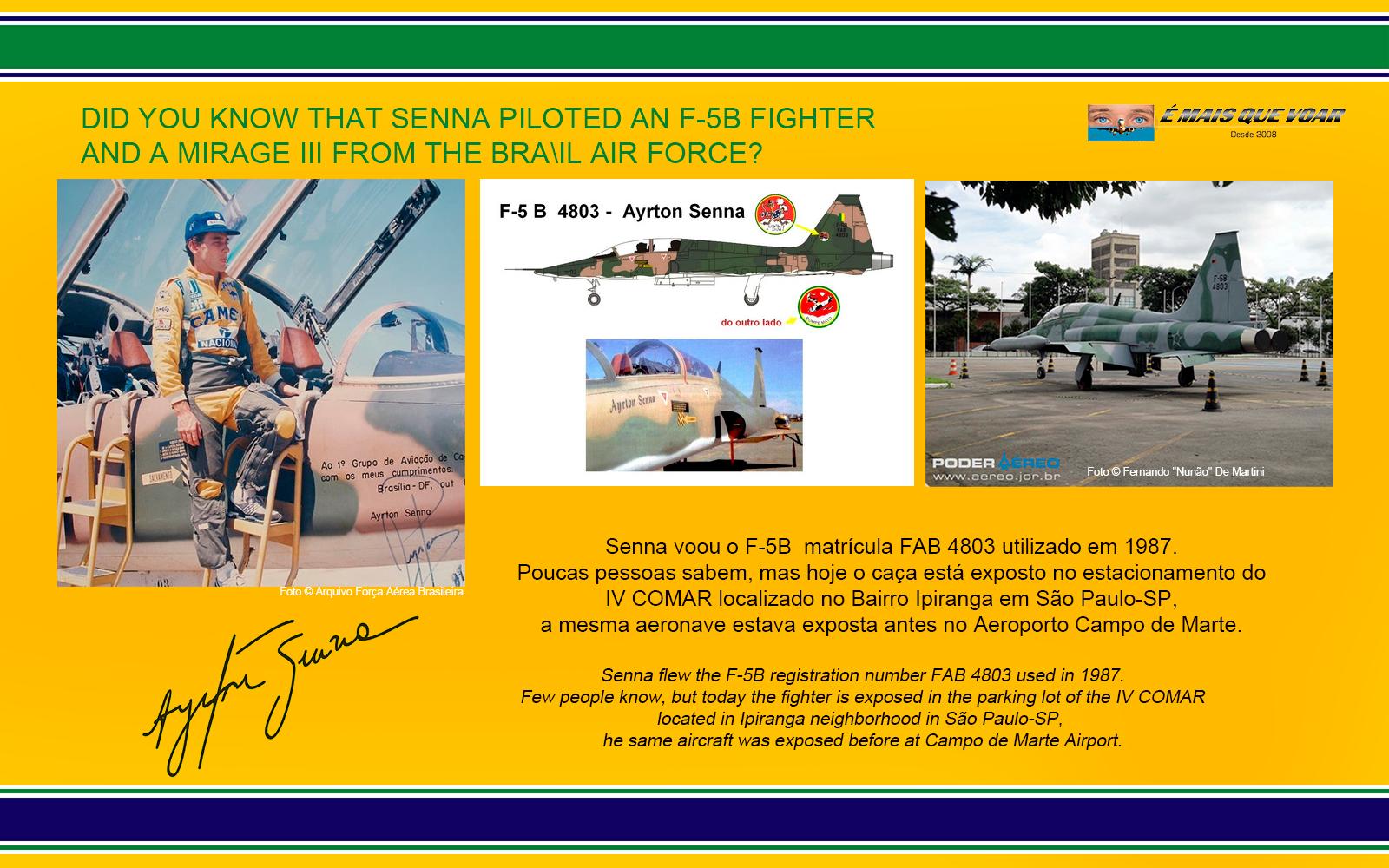 FAB 4803 - F-5B - FAB - Força Aérea Brasileira - Os aviões de caça pilotados por Ayrton Senna | É MAIS QUE VOAR