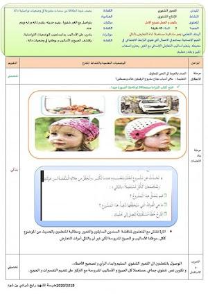 مذكرات اللغة العربية المقطع الثاني الحياة الاجتماعية و الخدمات الاسبوع الثالث (مهنة الغد) للسنة الخامسة ابتدائي.
