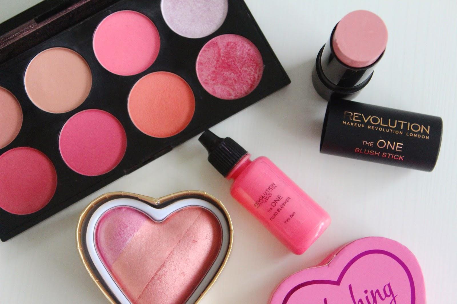 Makeup Revolution blush options review - flutter and sparkle