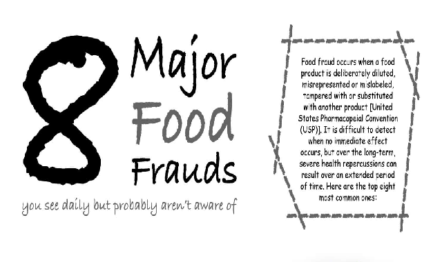 The Top 8 Most Common Food Frauds In Everyday Diets #infographic