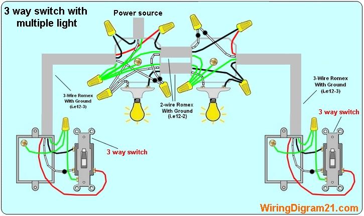 3 Light Switch Wiring Diagram 69 Camaro Way 4 Lights House Electrical
