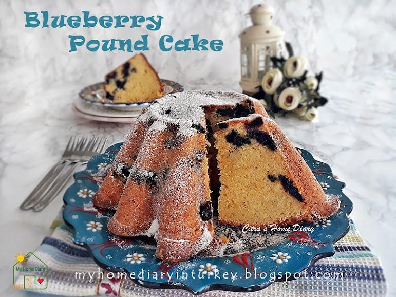 BLUEBERRY LEMON POUND CAKE. Best recipe with video | Çitra's Home Diary. #poundcake #blueberrycake #dessert #coffeecake #buttercake #cakefoodphotography #yabanmersinikek #lemonpoundcake