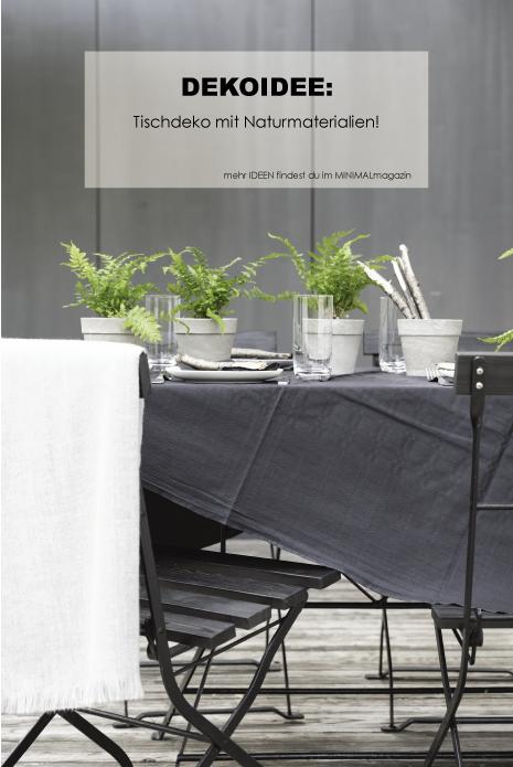 DIY - Tischdekoration mit Naturmaterialien - Tischkarten aus Ästen - #diy #tischdekoration #einfach #selbermachen
