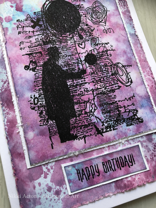 Cards with Tim Holtz Theories stamp set - by Nikki Acton