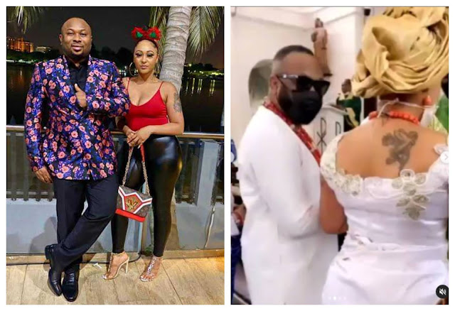 Moment Olakunle Churchill and his wife Rosy Meurer dedicate their son in church (video)