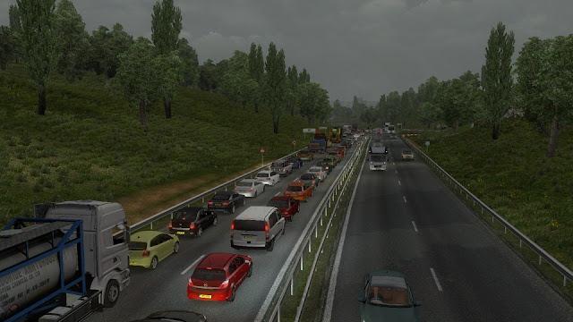 Euro Truck Simulator 2 v1.33 Yoğun Trafik