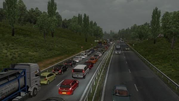 Euro Truck Simulator 2 v1.33 Yoğun Trafik Modu
