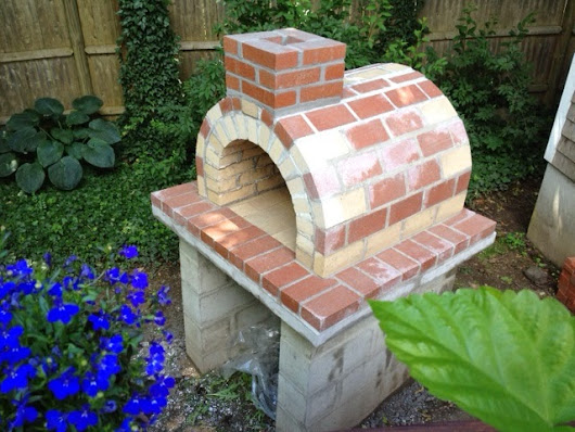 The Napier Family Tan & Red Brick Wood Fired Brick Oven