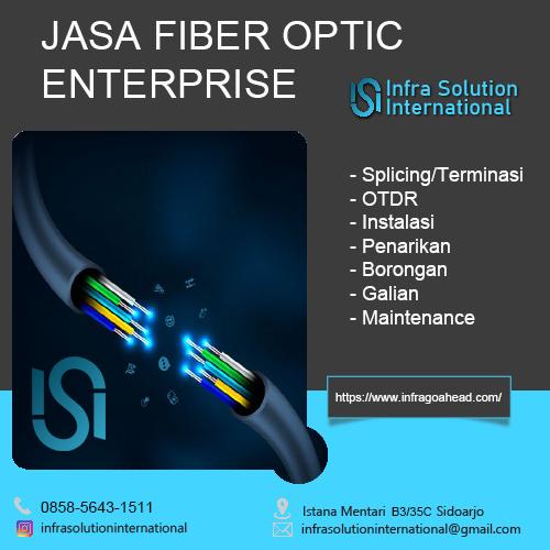 Penarikan Fiber Optic Rungkut Surabaya Enterprise