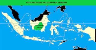 Peta Provinsi Kalimantan Tengah