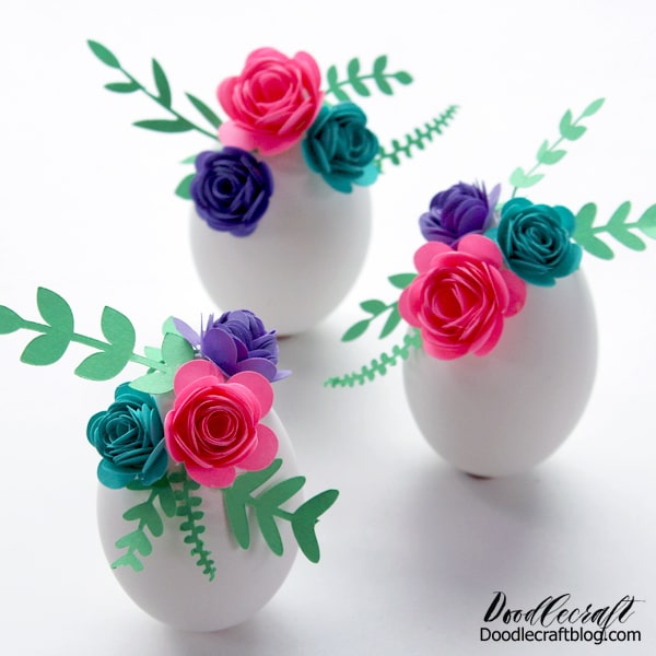 This Easter egg craft with rolled paper flowers is simple to make, and you probably have all the things needed to make them too!