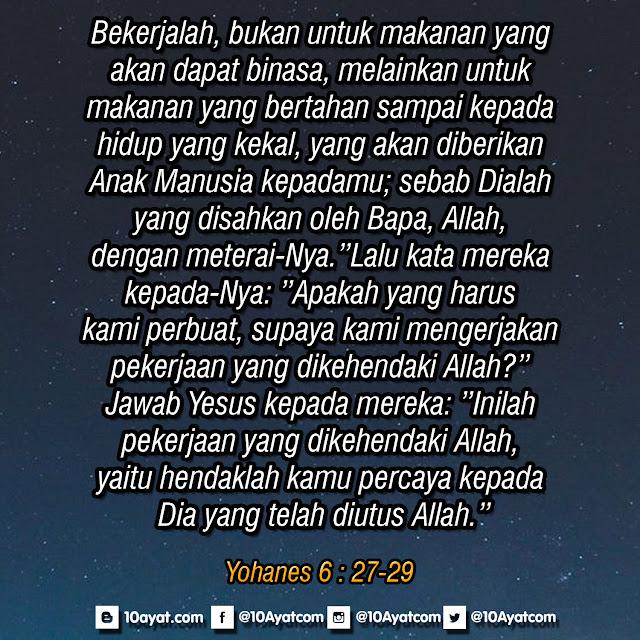 Yohanes 6 : 27-29