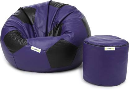 Rs.699/- Can bean bags XL Tear Drop (Without Beans)  (Purple, Black)