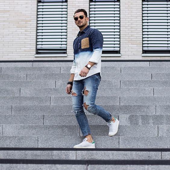 macho moda blog de moda masculina looks masculinos com adidas stan smith pra inspirar. Black Bedroom Furniture Sets. Home Design Ideas