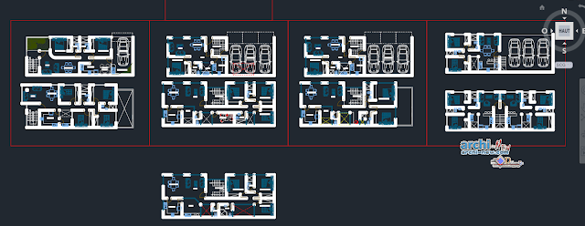 Building of departments in AutoCAD