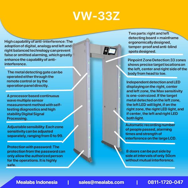 VW-33Z Walktrough Metal Detector