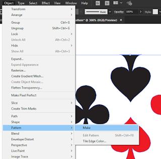 Menu Object Pattern di Adobe Illustrator
