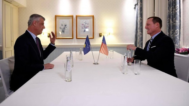Thaci and Grenell were trying a dirty deal according to Der Standard