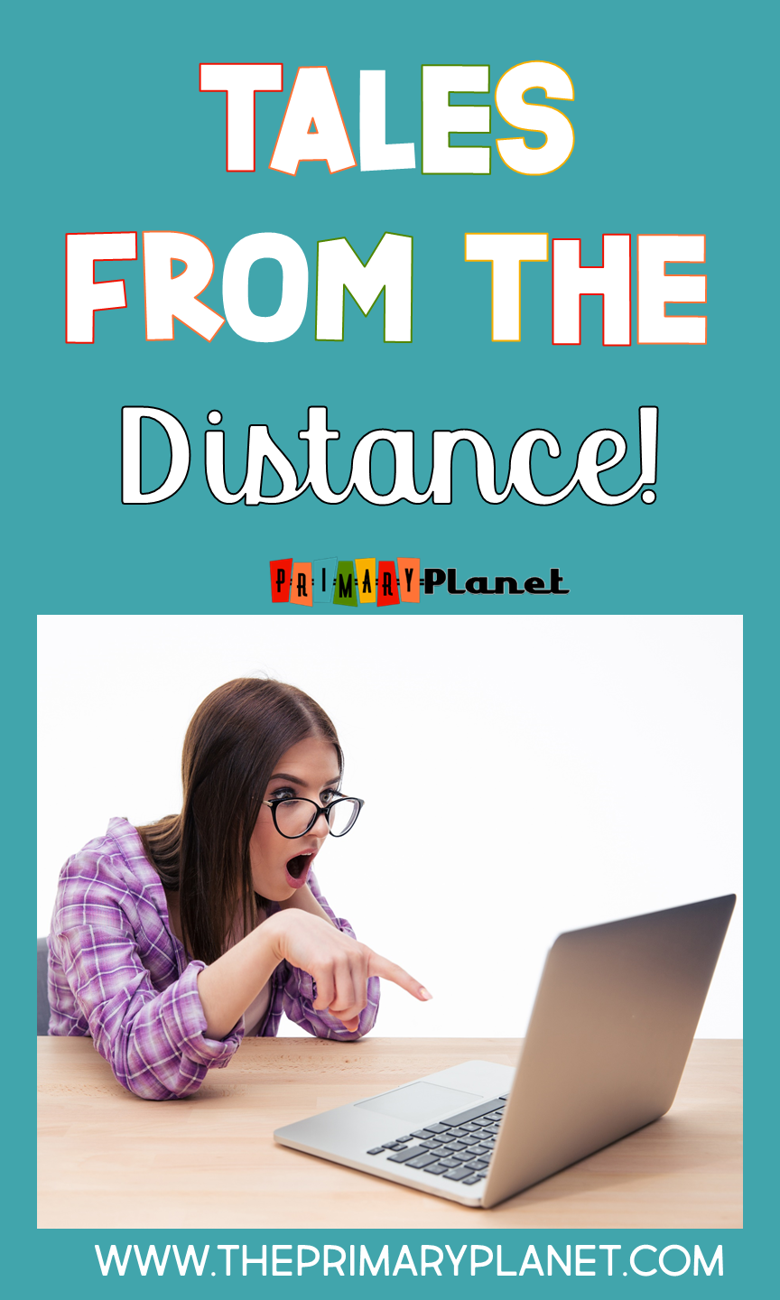 Tales from the Distance: Image of woman on the computer.