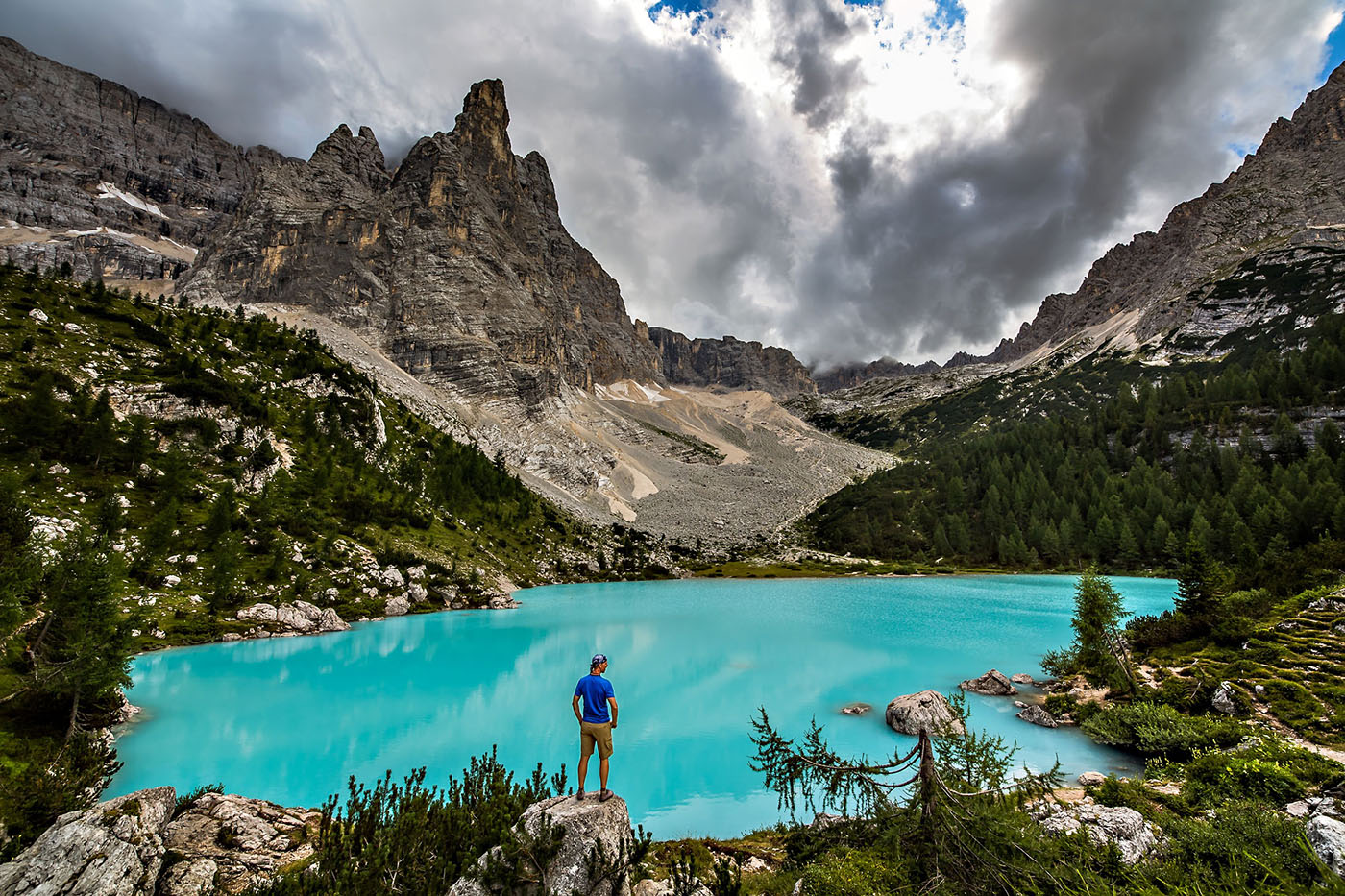 Лаго ди Сорапис, доломитовые альпы в Италии
