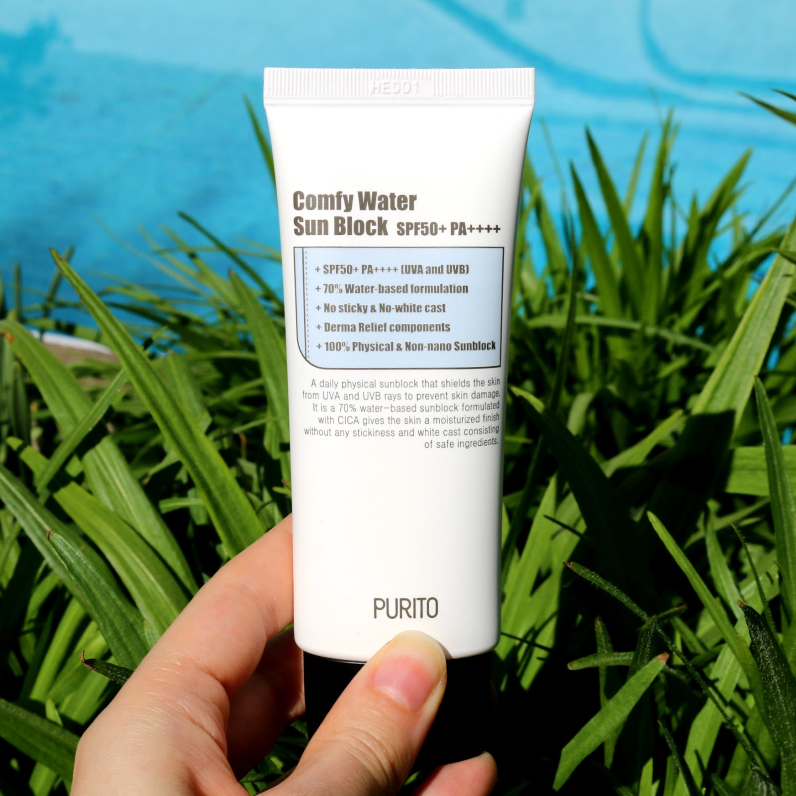 Purito Comfy Water Sun Block SPF 50 Korean Skincare Review