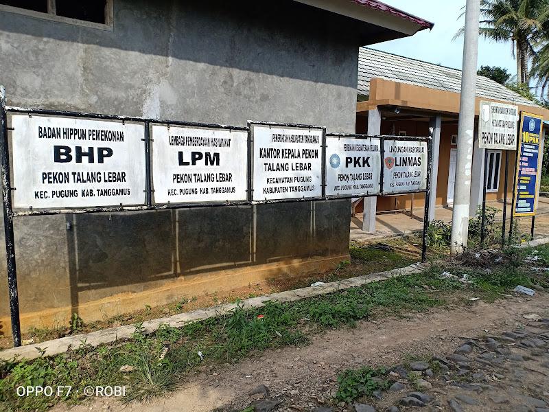 Balai Pekon Talang Lebar, Kecamatan Pugung, Kabupaten Tanggamus