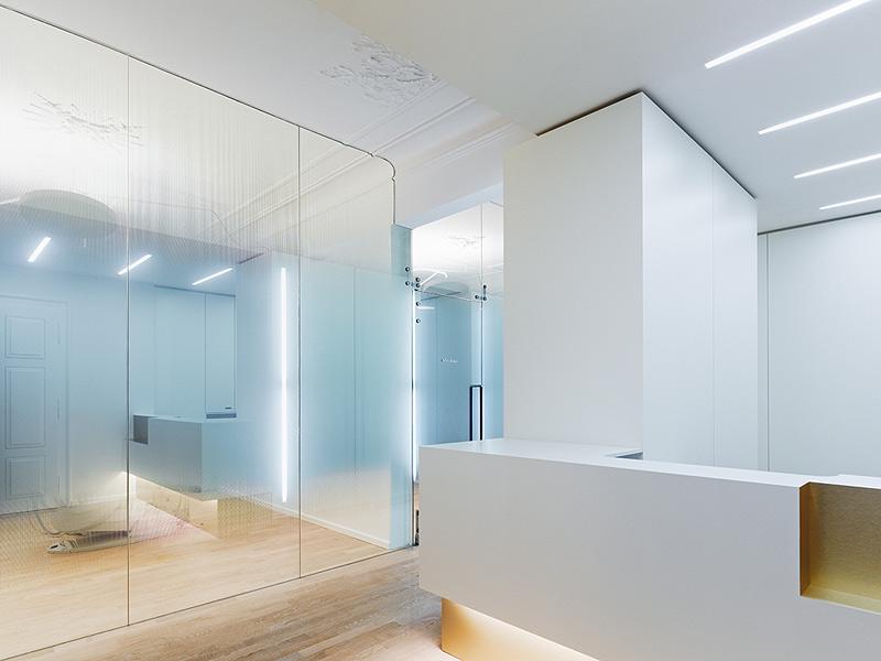 marzua cl nica dental en un edificio hist rico proyectada por ippolito fleitz group. Black Bedroom Furniture Sets. Home Design Ideas