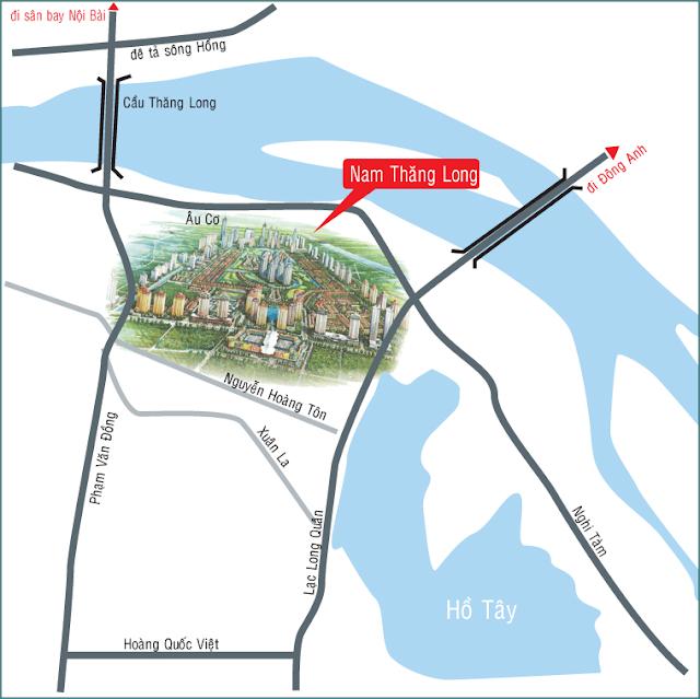 Vị trí dự án Ciputra Hà Nội