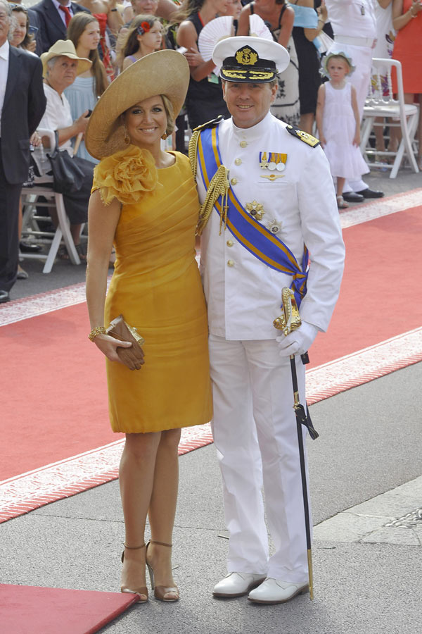 Mustard Yellow Wedding Guest Fab  Monaco Royal Wedding of Prince Albert and  Princess Charlene of Monaco in July 2011 13664380a03